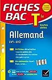 Fiches bac Allemand Tle (LV1 & LV2): fiches de révision - Terminale toutes séries
