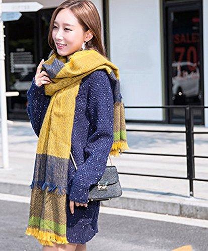 Echarpe Femme Hiver Longue Section Grasse Gardez Bib chaud Automne Et Hiver Mode Couleurs Mixtes Châle ( couleur : # 2 ) 5#