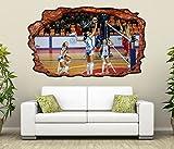 3D Wandtattoo Volleyball Spiel Frauen Turnier selbstklebend Wandbild Tattoo Wohnzimmer Wand Aufkleber 11L2358, Wandbild Größe F:ca. 140cmx82cm