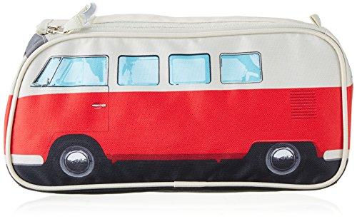Retro VW Bus Kulturbeutel Rot
