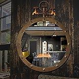 YANZHEN Retro Walled Badezimmer mit Make-up-Spiegel Industrial Wind Wasserhahn Spiegel Eisen Anhänger Kreative Home Beauty Mirror Großes Muttertagsgeschenk