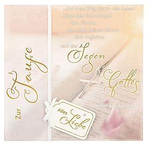Depesche 4907.053Tarjeta de felicitación Emotions en diseño Elegante, Bautizo