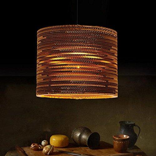 Lh&Fh Lámpara de luz pendiente el papel de pergamino retro americana de nido de abeja Araña corrugado Pupa
