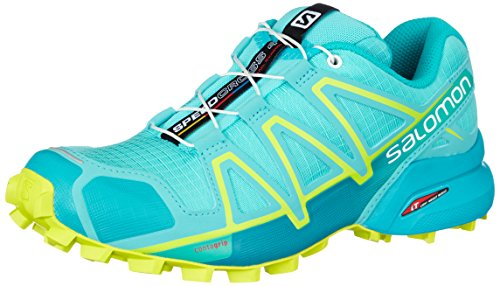 Salomon Speedcross 4 W, Scarpe da Trail Running Donna, Blu (Blue Curacao/Bluebird/Acid Lime 000), 36 2/3 EU