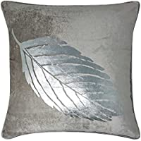 Mimosa de hojas funda para cojín, fundas de cojín de terciopelo de lujo metálico, moderna manta fundas de almohada con bordes ribeteados, 18