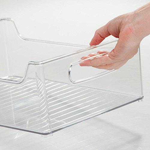 """InterDesign Refrigerator and Freezer Storage Organizer Bins for Kitchen, 10"""" x 5"""" x 14.5"""", Clear"""