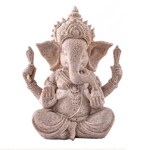Favourall Figura Decorativa de Elefante Hecha a Mano, Diseño de Estatua Escultura...