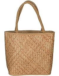 Tribe Azure Women Natural Straw Shoulder Bag Summer Picnic Beach Handbag Tote Lightweight Casual Fashion By Tribe...