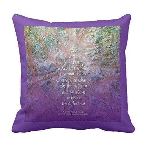 Zierkissenbezüge Serenity Prayer Incense Cedar American Mojo Sofa Pillow Cover Decorative Couch Cushion Cover for Living Room Canvas Slipcover 45 x 45cm (Serenity Prayer Home Decor)