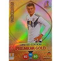Adrenalyn XL Coupe du monde de football 2018Russie–Toni Kroos Premium Gold Limited Edition Cartes à collectionner–Allemagne