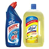 #10: Lizol Disinfectant Floor Cleaner - 975 ml (Citrus) with Harpic Powerplus Original - 1 L