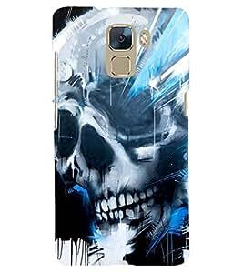 PRINTSHOPPII SKULL DEATH Back Case Cover for Huawei Honor 7