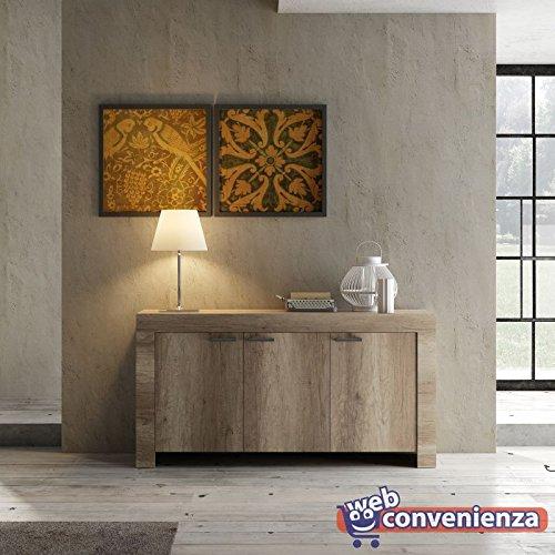 Web Convenienza Land Credenza/Madia Contenitore 3 Ante Rovere Canyon