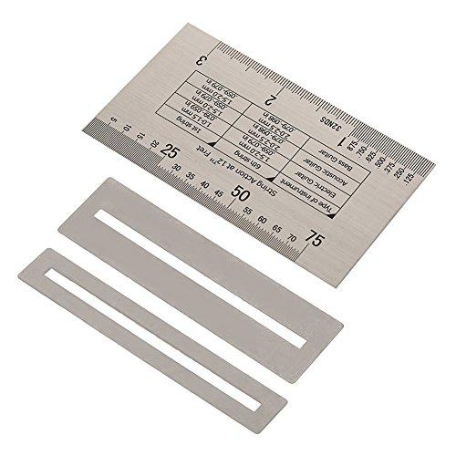 Chitarra string azione righello in acciaio INOX con protezioni fret chitarra gauge Tool set per chitarra basso strumenti