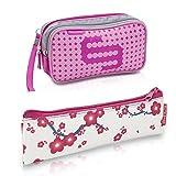 Queraltó Pack Bolsa isotérmica Dia's en Color Rosa y Estuche Insulin's con Flores Rosas | Elite Bags | Lote Ahorro | Kit de 2 tamaños: 1 Bolsa Grande + 1 Estuche pequeño