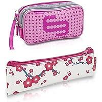 Pack bolsa isotérmica Dia's en color rosa y estuche Insulin's con flores rosas | Elite Bags | Lote ahorro | Kit de 2 tamaños: 1 bolsa grande + 1 estuche pequeño