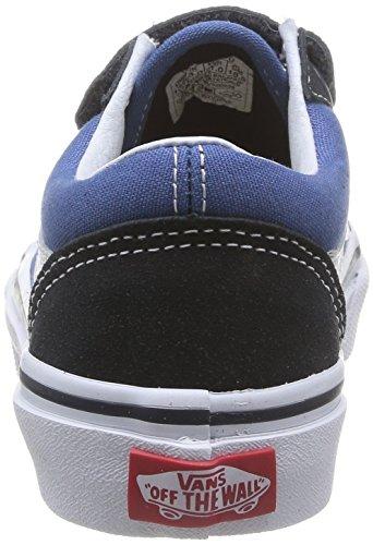 Vans OLD SKOOL V, Low-Top Sneaker unisex bambino Blu (Navy/True White NWD)