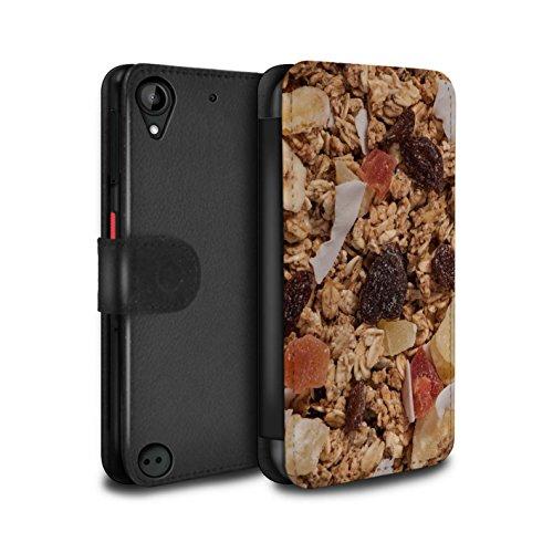 Kleie-müsli (Stuff4® PU-Leder Hülle/Case/Tasche/Cover für HTC Desire 530 / Tropischen Müsli Muster/Getreide Kollektion)