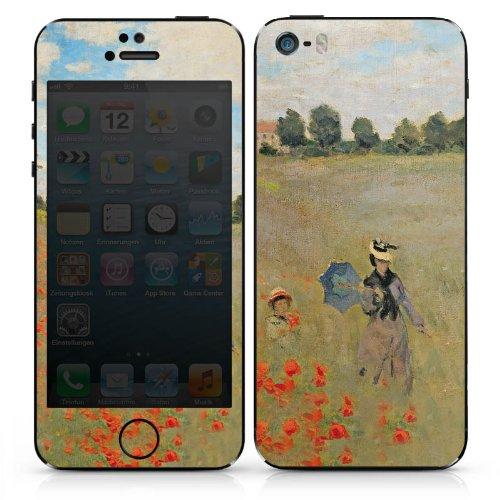 Apple iPhone SE Case Skin Sticker aus Vinyl-Folie Aufkleber Claude Monet Gemälde Kunst DesignSkins® glänzend