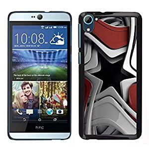 // PHONE CASE GIFT // Hart Schutzhülle PC Hülle Kunststoff HandyHülle Hard Protective Case for HTC Desire D826 / Abstract Star Shape /