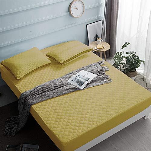 Hllhpc Für Hotel Dickes Schleifgewebe Gesteppte Bettdecke Bettlaken Gesteppte Matratzenschoner -13 180 * 200 + 25 cm