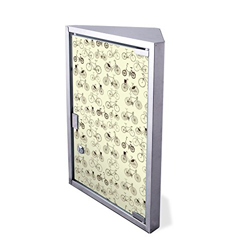 Preisvergleich Produktbild Edelstahl Medizinschrank Eckschrank abschließbar 30x17,5x45cm Badschrank Hausapotheke Arzneischrank Bad Fahrräder