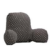 Colorfulworld Lendenkissen Stützkissen Bedrest Weich Plüsch Kissen für Auto, Bett, Büro-Stuhl und Sofa (65x40x26cm) (03)