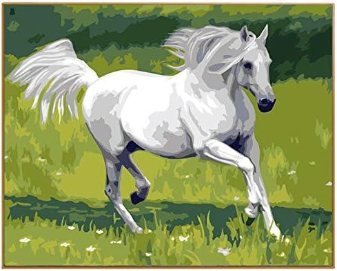 YKCKSD Puzzle 3D 3D 3D Running White Horse l'art Mural De Pinceau De Calligraphie De DIY   Avoir à La Fois La Qualité De La Ténacité Et De Dureté  6b8f57