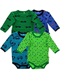 Pippi Baby - Jungen Poloshirt Body Ls Ao-printed (4-pack)