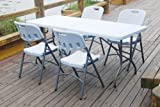 Vinsani 6FT Folding Garden Banquet Parties BBQ Table - White