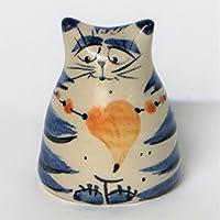 Salzkatze Salz&Pfefferstreuer Keramik - getöpfert - in kobalt blau