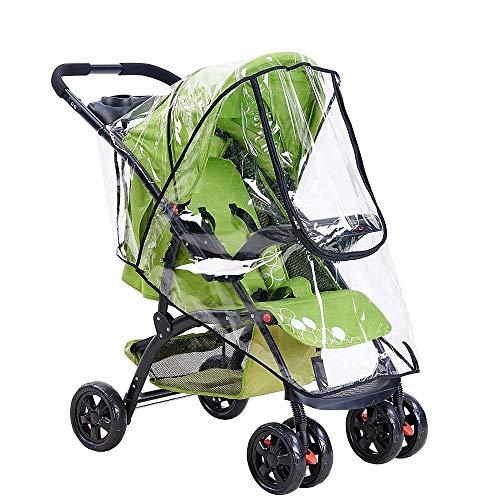 Fogawa parapioggia universale per passeggino carrozzina a ruote 4 con 2 maniglie ruote 3 ovetto ombrello per coprire pioggia polvere vento aria condizionata luce ultravioletta trasparente