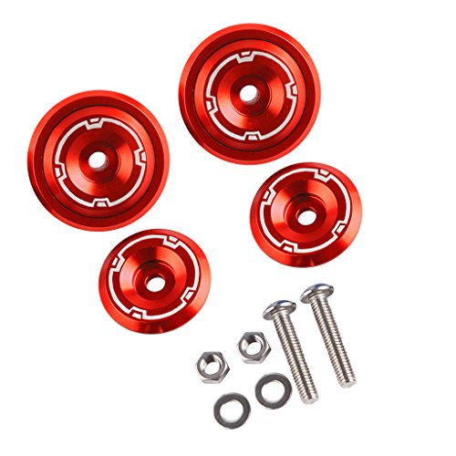 Sharplace 1 Kit Rahmen Lochabdeckung Kappe Stecker Schraube für Kawasaki Z900 Rahmen & Anbauteile - Rot