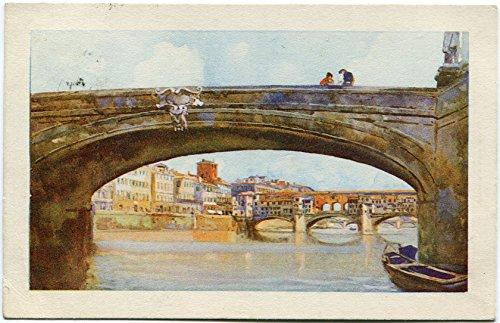 1931 Firenze - il Ponte Vecchio dal Ponte S