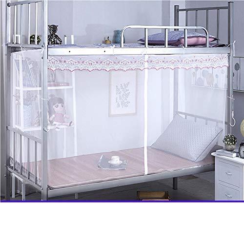 YSA Round Hoop Bed Faltbare Sheer Canopy Dome Prinzessin Lace Mosquito, Moskitonetz Für Rosa Netting Canopies Kinder Mädchen Vorhänge, Weiß, 135x190cm (53x75inch)