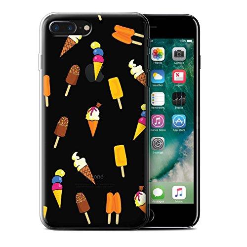 Coque Gel TPU de STUFF4 / Coque pour Apple iPhone 7 Plus / Pizza Design / Morceaux Nourriture Collection Crème Glacée