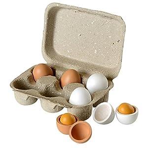 beluga 70827 - Cartón de seis huevos de madera para jugar Importado de Alemania