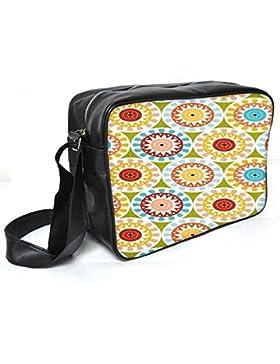 Snoogg Motiv Design Grün Leder Unisex Messenger Bag für College Schule täglichen Gebrauch Tasche Material PU