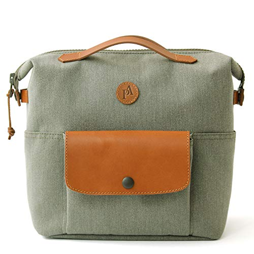 Practico Arte. hge Brompton Front Mini Tasche (mit Rahmen) Olive, Hge Minibag, handgefertigt in Seoul, Korea -