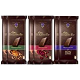 #4: Cadbury Bournville Dark Chocolate, Pack of 6 (Rich Cocoa, 2x80g, Raisin and Nut, 2x80g, Cranberry ,2x80g)