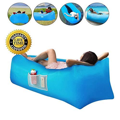 Divano ad aria,Divano gonfiabile divano con cuscino integrato e custodia, gonfiabile spiaggia, materassino gonfiabile,portatile leggero impermeabile poliestere aria divano gonfiabile Lounger