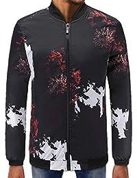 Suéter de los Hombres, Chaqueta Delgada Tops de la Chaqueta de los Hombres Lotus Imprimir
