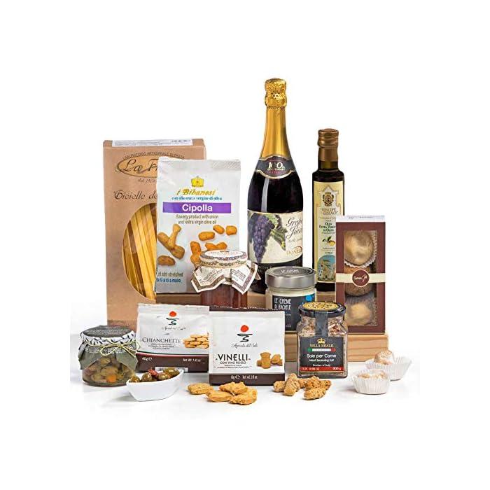 Squisito Luxus italienischen & sizilianischen Lebensmittel Hamper Geschenkbox 1