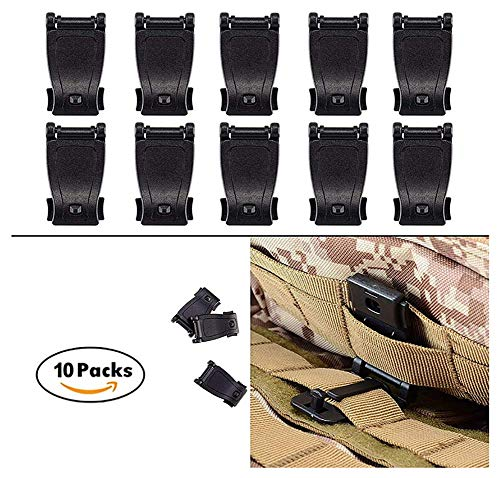 Tactical Management Tool Tactical Belt Clip MOLLE Clip Web Accessories Buckle Dominator Tactical Bag, Backpack (Black)