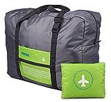 Unisex Impermeable Bolsa de Almacenamiento de viaje Plegable Nylon Embalaje Organizador con Gran Capacidad Accesorio de Viaje - Verde