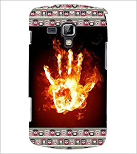 PrintDhaba flamming Hand D-6030 Back Case Cover for SAMSUNG GALAXY S DUOS 2 S7582 (Multi-Coloured)