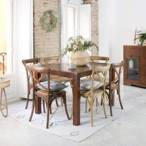 Gael Table Extensible 140/190 Teck - Bois - 140x90x78 cm - Couleur Teck