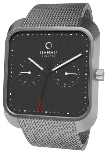 Obaku Harmony - Reloj analógico de cuarzo unisex con correa de acero inoxidable, color plateado