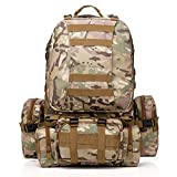 C☯H Waterproof Detachable Multifunctional Outdoor Mountaineering Backpack Molle Military Tactical Assault Backpack Rucksack Bag for Hiking Camping Trekking Climbing (color 8)