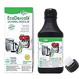 EcoDescalk Universal Biologico Concentrato (9 Decalcificazioni). Decalcificante 100% Naturale. Detergente per Ferri da Stiro, Bollitori, Lavatrici, Lavastoviglie. Prodotto CE.